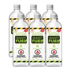 Anywhere Fireplace - Anywhere Smart Fuel Liquid Bio-Ethanol Fuel, Liter Bottles, 6 Pack - The fuels offered are created specifically for bio-ethanol ventless fireplaces. It is a fuel specially formulated to provide the cleanest and safest fire possible.