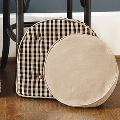 Ballard Essential Round Stool Cushion Cover & Insert