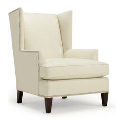 Mitchell Gold + Bob Williams - Kalinda's Chair - As part of a collection that's named for a popular TV series, this sleekly designed wing chair will take center stage in your own home. And after you sit down on it, this beautiful chair will be your living room's star attraction.