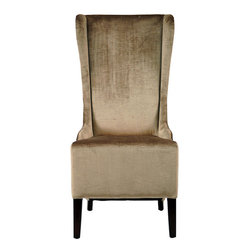 Deco Bacall Velvet Side Chair - Throw a pair of these at the ends of the dining table to spice things up a bit.