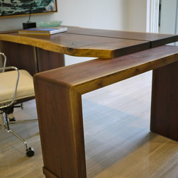 2012 New American Walnut Desk - This is the solid hardwood desk that we designed/made from local, sustainably sourced walnut for Phil Kean's 2012 New American Home.