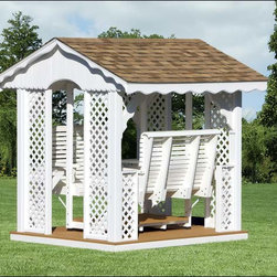 Fifthroom - Vinyl Gable Gazebo Swing -
