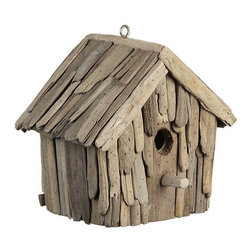 Driftwood Birdhouse - This adorable little driftwood birdhouse would make a porch happy. Sit it on a shelf and enjoy.