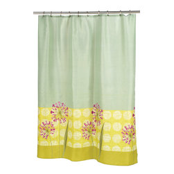 """""""Serenity"""" Fabric Shower Curtain - """"Serenity"""" Fabric shower curtain, 100% polyester, size 70""""x72"""". With its soft colors and elegant floral pattern, our """"Serenity"""" Shower Curtain will rejuvinate your bathroom. This standard-sized (70'' wide x 72'' long) curtain is 100% polyester, machine washable, and water resistant. The coordinating """"Serenity"""" window curtain is available separately.  Machine wash in warm water, tumble dry, low, light iron as needed"""