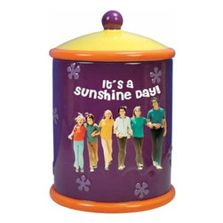 WL - 10.25 Inch It's a Sunshine Day Brady Bunch Painted Ceramic Cookie Jar - This gorgeous 10.25 Inch It's a Sunshine Day Brady Bunch Painted Ceramic Cookie Jar has the finest details and highest quality you will find anywhere! 10.25 Inch It's a Sunshine Day Brady Bunch Painted Ceramic Cookie Jar is truly remarkable.