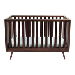 Ubabub - Ubabub Nifty Convertible Crib in Walnut Finish - Ubabub - Cribs - U0310. Complete your nursery look in style with this retro-inspired convertible crib. Its simple and elegant design features secure wooden sides. Versatile and functional this crib can be easily converted from a full size crib to a toddler bed. Offering the ultimate in stability and function it has a sturdy construction that will last for long.