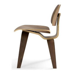 Aeon Furniture - Richmond American Walnut Plywood Chair - Layered Bent Plywood Side Chair. American Walnut Vener. Inspired by a Mid-Century Modern Classic . No Assembly Required. Seat Height: 17.5. 22.25 in. L x 19.75 in. W x 28.75 in. H (20 lbs.)American Walnut plywood chair with wood legs created from layered bent hardwood. The Richmond Chair is part of Aeon's Modern Classics Collection.  Aeon Furniture works with only the highest quality manufacturers providing superior craftsmanship with close attention to detail.  Our pieces are sure to meet your design needs.