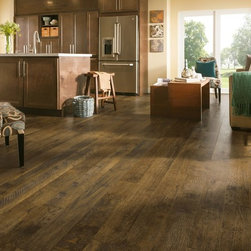 Armstrong Rustics Premium Laminate Flooring - Forestry Mix Brown Wash - If comfortable and relaxed define your style, the Rustics Premium laminate collection is perfect for you. These floors offer scraped textures and farmhouse-style wide boards that are in step with current interior trends.