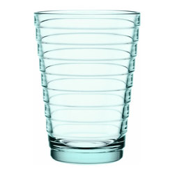 Iittala - Aino Aalto Tumbler 11 Oz., Water Green - Truly great style doesn't shout — and this classic modern tumbler is a case in point. Clean lines, delicately defined by horizontal bands, bring an easy elegance to your table.