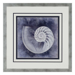 Paragon - Ocean Blue IV - Framed Art - Each product is custom made upon order so there might be small variations from the picture displayed. No two pieces are exactly alike.