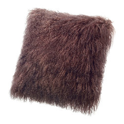 Sheepskin Pillows Tibetan Mongolian Lambskin - Tibetan Lambskin Throw Pillows Fur Cushions 16' Square