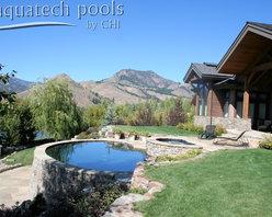 Hillside pool Ketchum Idaho -
