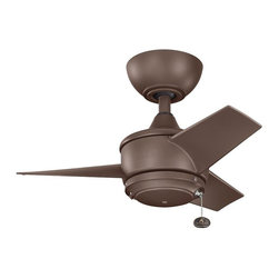 "Kichler - Yur 24"" Ceiling Fan Coffee Mocha - Kichler Yur Model KL-310124CMO in Coffee Mocha with All Weather Polycarbonate Coffee Mocha Finished Blades."