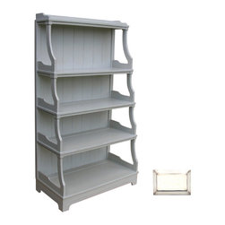 Tradewinds - Multi-Functional Display Shelf, Bone - This classic stacked display shelf outshines every other furniture. The Traditional shelf is always in demand while decorating interiors, as along with being highly appealing it is multi-functional as well. Extremely spacious, it lets you organize your home by getting rid of all unnecessary things. You can place it in your balcony or inside your store room its simple architecture will straight away gain praises. You can keep your clothes, or your newspapers accordingly on its shelves. Store your books or your prized possessions, it will magnify them beautifully. With number of shelves, you can sum up a story and present it to your viewers.