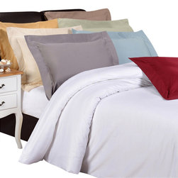"""Bed Linens - Egyptian Cotton 1200 Thread Count Solid Duvet Cover Sets, Sage, Full/Queen - Bedding doesn't get better than this! Prized for its softness, luster and long wear,this bedding is crafted from 100% Egyptian cotton woven with an unrivaled 1200Thread Count for the ultimate in luxury. These 1200 thread count duvets ofpremium long-staple cotton are """"sateen"""" because they are woven todisplay a lustrous sheen that resembles satin."""