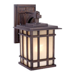 Vaxcel - Manor House Architectural Bronze 11.75 in. Outdoor Pendant - Dimensions: 7 in. W x 9 in. L x 11.75 in. H.