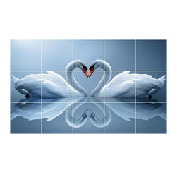 Picture-Tiles, LLC - Bird Picture Wall Back Splash Tile Mural  18 x 30 - * Bird Picture Wall Back Splash Tile Mural 1186