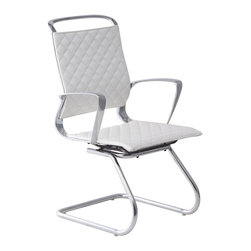 Zuo Modern - Zuo Jackson Conference Chair in White - Conference Chair in White belongs to Jackson Collection by Zuo Modern The Jackson conference chair is a swank addition to any workspace. The chair has a supple leatherette seat complimented by detail stitching and a 100% chrome frame. Office Chair (1)