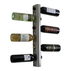 Wine-Wall.com - Vertika Wine Rack - The Vertika Wine Rack is an affordable yet elegant wine storage solution for those looking to rack many bottles while avoiding an industrial look as most commonly seen in cellars. This wine rack can mount up to 12 bottles making it a space-efficient wine rack freeing up counter space and maximizing your space's racking potential.