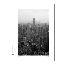 "New York City 20, Limited Edition, Photograph - ""New York City 20 is a photograph taken in downtown Manhattan from the top of Rockefeller Plaza looking south towards The Empire State Building.  Technical Information:  This is a limited edition photograph produced on Epson Premium Presentation Fine Art Matte Media using an archival pigment. Each photograph is produced, signed and numbered by the artist. Only one hundred or fewer prints are produced in each series. Prints are delivered in a crystal clear presentation sleeve supported with a white backing board.   On 8.5 x 11 media the printed image is 6 x 9 inches, leaving a one inch white border. This white border allows for for easy framing with or without a matte. Perfect for small spaces that need a splash of unique artistry.  Please feel free to contact me with any additional questions you may have."""