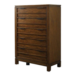 Hooker Furniture - Hooker Furniture Chatham Five Drawer Chest - Hooker Furniture - Chests - 104391010 - Horizontal lines and molding and straight cases give a modern yet down-to-earth feel to Chatham.