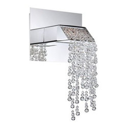 Fonte Collection Chrome Crystal 11-Inch-H Sconce -