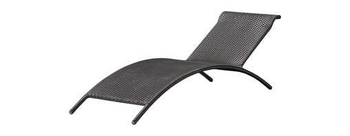 Zuo Modern - All-Weather Resin Wicker Outdoor Lounge Chair - Catch a wave with this patio chair.  The interesting shape reminds you of a wave and it's just about as comfortable as one.  Kick back and watch the clouds float by.  Chair has an aluminum frame with a woven synthetic material covering. * Aluminum Frame. Synthetic Weave. Arrives Assembled. 82.5 in. W x 25 in. D x 26.5 in. H. 20 lbs