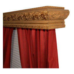 BCL Drapery Hardware - Elizabeth Venetian Gold 68-Inch Double Curtain Rod Cornice - - A beautiful floral motif conjures up the luxury of old Europe, but that doesn't mean the Elizabeth Cornice will be out of place in your home. This traditional styling will find its way into your inner royalty! But this is no ordinary cornice; our innovative system features a built-in curtain rod, perfect for hanging any type of drapery in seconds. Note: Curtain Rods are completely removable should you have blinds or other window treatments currently in place. Double Curtain Rod Cornice has a 4. 25 inch profile (height). The return depth (inside projection from the wall) is 6. 5 inch. Each cornice comes with two built-in curtain rods - ready to hang two window treatments of your choice. Any pocket rod curtain will work: sheers, drapes, thermals, tab top, pinch pleat or use clip rings to attach your curtainsCornice arrives fully assembled. Simply attach brackets to the wall (as you would any curtain rod) attach the cornice to the brackets. Hand-painted finish. Wipe clean with damp cloth. No harsh cleaning supplies needed. Proudly Made in the U. S. A.  - Artisinally Hand-Crafted High Density PU Foam Frame  - Made in USA BCL Drapery Hardware - 68EZD