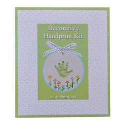 Decorative Handprint Paint Set - Capture a moment in time and enjoy for years to come, our Child to Cherish Handprint Paint Set. An elegantly boxed kit includes almost everything you need to create a cherished keepsake, including paints to create your own design on the clay.