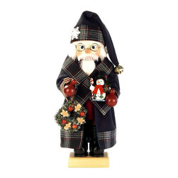 "Frontgate - Santa with Wreath Nutcracker - Handcarved and hand-painted, with careful attention to detail. Exquisite 18"" tall figurine. Handcrafted from the finest wood and materials. Limited edition of 1,000 pieces made. The Santa with Wreath Nutcracker from Alexander Taron is a stunning piece that showcases the beauty of skilled German handcarving. The intricate details in the snowman and wreath Santa Claus bears will leave you admiring this set each time you walk by. Enjoy the master craftsmanship of Christian Ulbricht figurines, a holiday tradition since 1928. . . . . Made in Germany."
