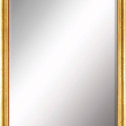 Paragon Decor - Beveled Mirror, Yellow Gold, 22x28 - Mirror, Mirror, on the wall, who's the most beautiful mirror of them all? Reflect your impeccable taste with this traditional-style mirror, which features a gorgeous simple yellow gold frame and high-quality interior beveled mirror. This piece measures 25 inches wide, 3 inches deep, and 31 inches high.
