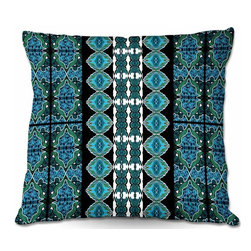 DiaNoche Designs - Pillow Woven Poplin from DiaNoche Designs by Susie Kunzelman - Blue Bonnet II - Toss this decorative pillow on any bed, sofa or chair, and add personality to your chic and stylish decor. Lay your head against your new art and relax! Made of woven Poly-Poplin.  Includes a cushy supportive pillow insert, zipped inside. Dye Sublimation printing adheres the ink to the material for long life and durability. Double Sided Print, Machine Washable, Product may vary slightly from image.