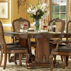 ART Furniture - Old World Double Pedestal Dining Table - ART-143221-2606 - Old World Collection Dining Table