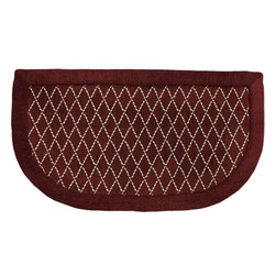 "Mohawk Home - Imports Diamond Lattice New Brick Contemporary 20"" x 3' Slice Mohawk Rug RG382 - A simple way to add comfort and design to your kitchen. This cushioned mat that offers a cozy feel to your home decor. This mat features anti-fatigue memory foam and is stain resistant. Easy to clean, no bleach or detergent necessary, blot spills with a dry cloth & air dry.Non Woven Backing w/PVC Dots"