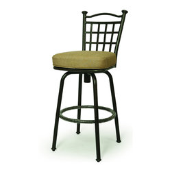 None - Bay Point 30-inch Outdoor Bar Stool - Ideal for barbeques or outdoor parties,this upholstered outdoor barstool will add an elegant mix of color and texture to your outdoor living space. Beautifully crafted with an aluminum frame,this swivel stool is both striking and comfortable.