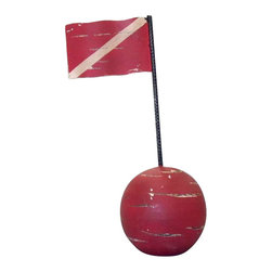 """Handcrafted Nautical Decor - Iron Signal Buoy 19"""" Nautical Decoration Beach Style Decor Fishing Marker Buoys - The dimensions of our Iron Signal Buoy 19"""" is 6.5"""" L x 6.5"""" W x 19.5"""" H. Made completely out of iron, the Iron Signal Buoy 19"""" is a great holiday gift for yourself or the nautical enthusiast in your life."""
