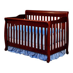 AFG Baby - AFG Baby Alice Convertible Crib with Toddler Rail in Cherry - The Alice 3 in 1 Crib is crafted of solid wood with a choice of 3 classic finishes. Simple, modern crib with step side panels, the crib can be converted into a toddler bed and full-size bed. It comes equipped with a guard rail and a 4 level mattress support. Its simple, convertible ability allows you to adjust the product throughout your child's growth.