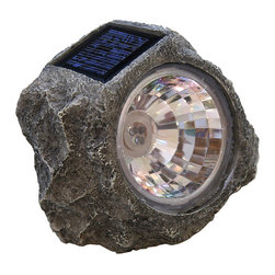 Tricod - Tricod Stone-shaped Solar Spotlight - Illuminate the path to your home with a stone-shaped solar spotlight Garden lighting is powered by the sun, so no wiring required Landscape light turns on automatically when dark