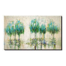 Paragon Decor - Weeping Trees Artwork - Don't feel sorry for our weeping trees.  They can brighten any room.  Hand painted oil features black painted sides.