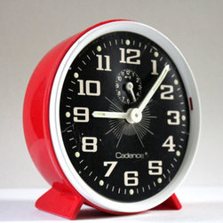 Vintage Retro Alarm Clock in Red -