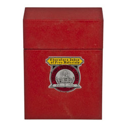 Educators Index Materials Metal Case - Vintage Educators Index of Free Materials steel case.