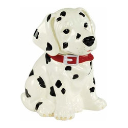 WL - 10.25 Inch Black and White Dalmatian Puppy with Red Collar Cookie Jar - This gorgeous 10.25 Inch Black and White Dalmatian Puppy with Red Collar Cookie Jar has the finest details and highest quality you will find anywhere! 10.25 Inch Black and White Dalmatian Puppy with Red Collar Cookie Jar is truly remarkable.