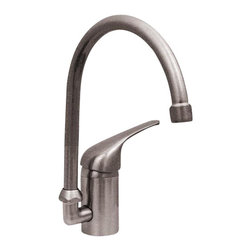 Whitehaus - Whitehaus 3-2851-Bn Flamingo Iii Prep Faucet - Flamingo III single hole/single lever handle entertainment/prep faucet with a gooseneck swivel spout