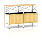 Herman Miller - Herman Miller Eames Storage Unit - 2 x 2 with Doors - Say goodbye to boring. This modular storage unit is anything but. Way ahead of its time, this piece was designed in the 1950s by the iconic team of Charles and Ray Eames. Its clean lines and high-tech look blend beautifully with today's modern interiors. Use it for office organization or to display your favorite works of art.