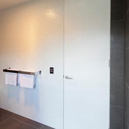Homes - Ezy-Jamb Full Height Flush Finish Door Jamb in modern bathroom