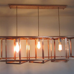 Industrial Geometric Chandelier - Simplicity makes a statement.