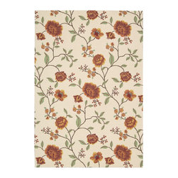 "Nourison - Nourison Vista Floral Ivory 2'6"" x 4' Rug by RugLots - The view is always beautiful with these exciting, eye-catching and durable rugs. Features a heavy loop pile with floral, paisley and ikat designs in striking colors. Select designs have been hand carved for extra texture and dimension. Bring a vibrant focal point into any interior with these attractive rugs and express yourself with style and panache."