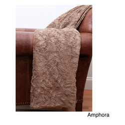 Thro - Crinkle Fur 50-inch x 60-inch Throw - This crinkle faux fur throw adds a warm touch to home decor. The machine-wash polyester throw measures 50 inches by 60 inches long.