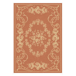 Safavieh - Safavieh Courtyard Cy1893-3202 Terracotta / Natural Area Rug - Traditional patterns and classic beauty are found in the area rugs of the Courtyard collection. Made in Belgium of enhanced polypropylene, these rugs are extremely durable and perfect for indoor or outdoor use. The area rugs of the Safavieh Courtyard collection offer highly detailed and sophisticated designs created through an unusual sisal weave. Select the colors, design, and style that will compliment any room in your home in round, rectangular or runner rugs.