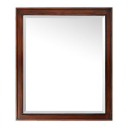 Avanity - Brentwood 30 in. Mirror - Knock on wood – solid wood that is. This framed mirror is a reflection of your personal style. It coordinates beautifully with a variety of bathroom vanities and can be hung horizontally or vertically.